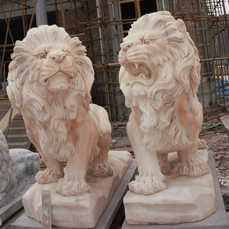 marble lions statue
