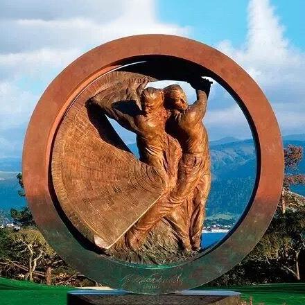 Bronze figure sculpture