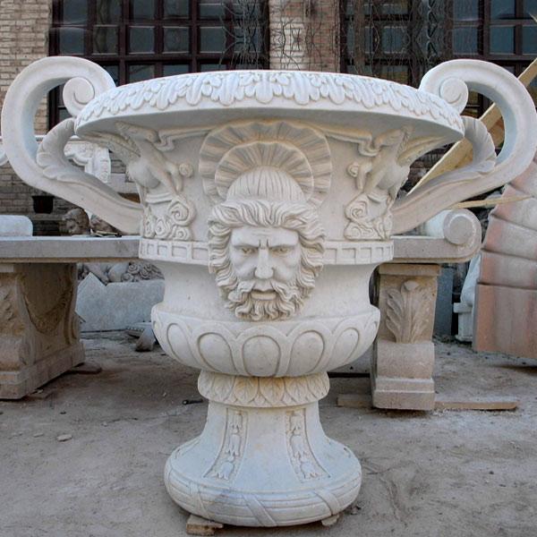 Stone flowerpot statue