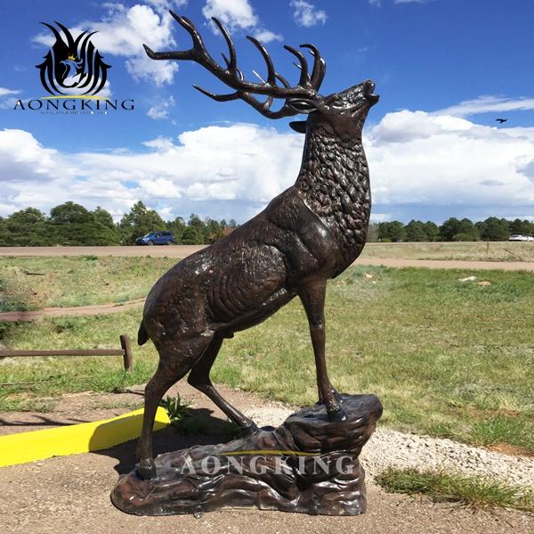 Bronze Deer Sculpture