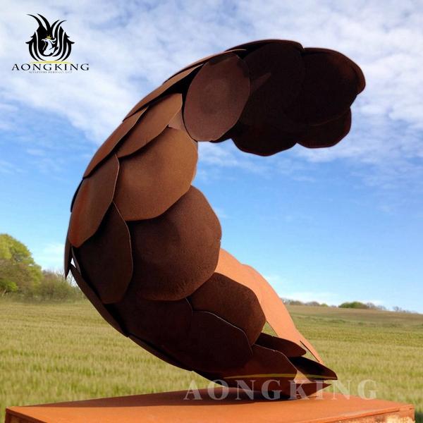 large corten steel sculpture