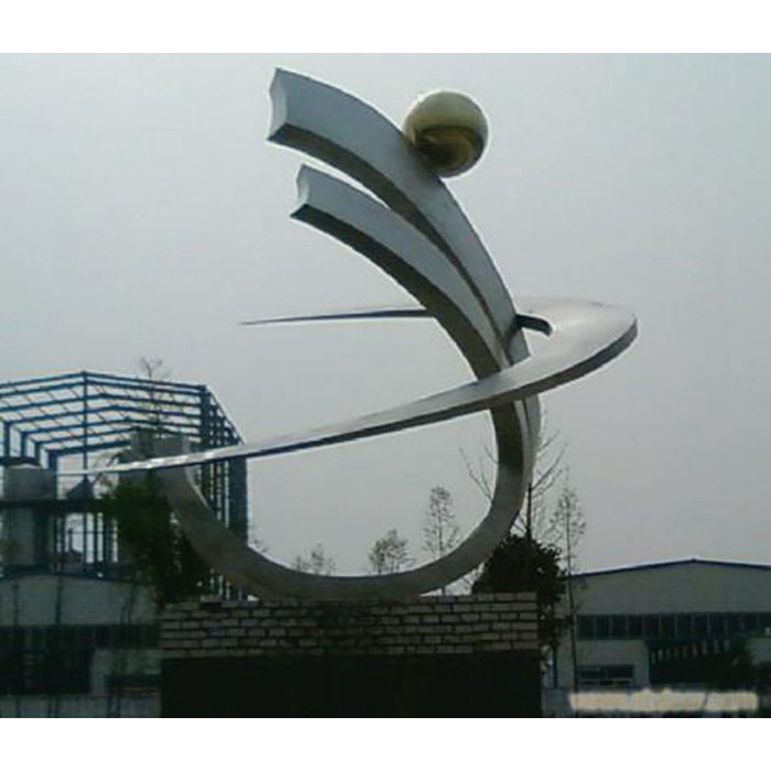 outdoor stainless steel statue