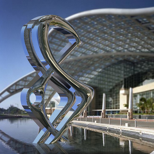 modern sculpture stainless steel
