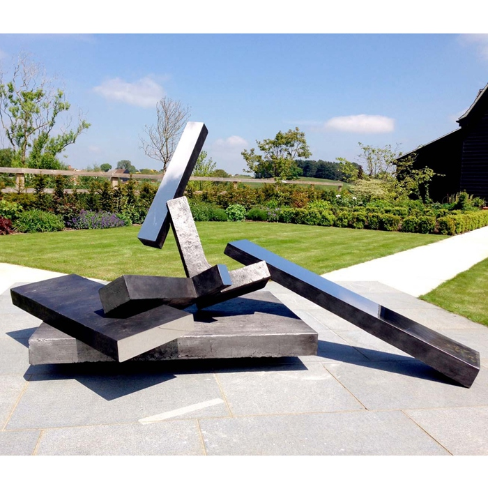 cuboid stainless steel statue