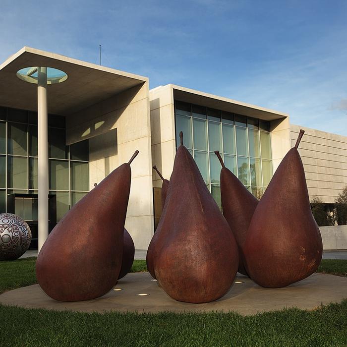 pear corten steel sculpture