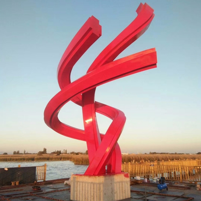 red city steel statue