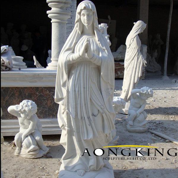 stone virgin mary statue