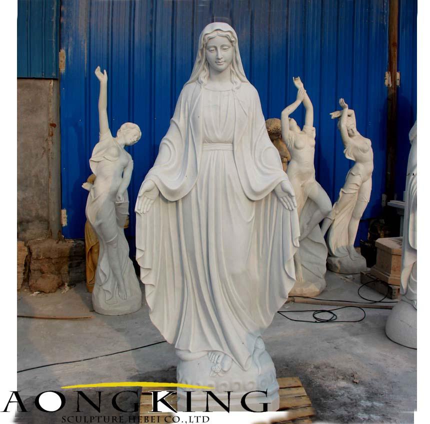 virgin mary stone sculpture