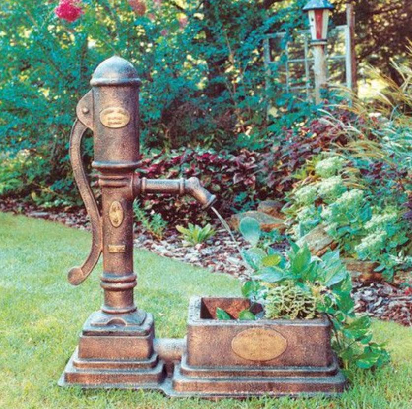 bronze water fountain sculpture