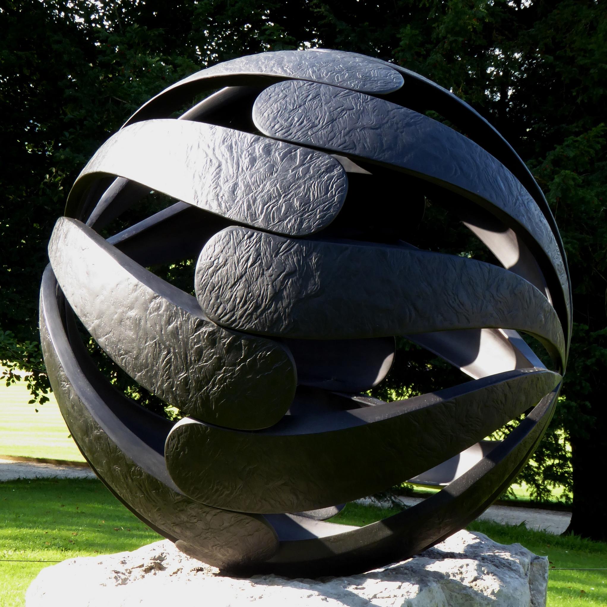 folium hollow sphere sculpture