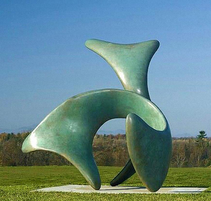 abstract art sculpture bronze