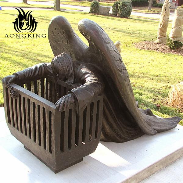 ark angel copper sculpture