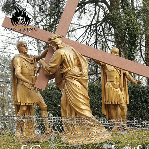 christian cross sculpture