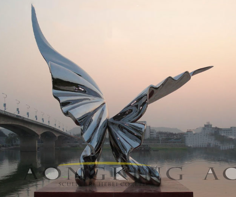 butterfly stainless steel sculpture