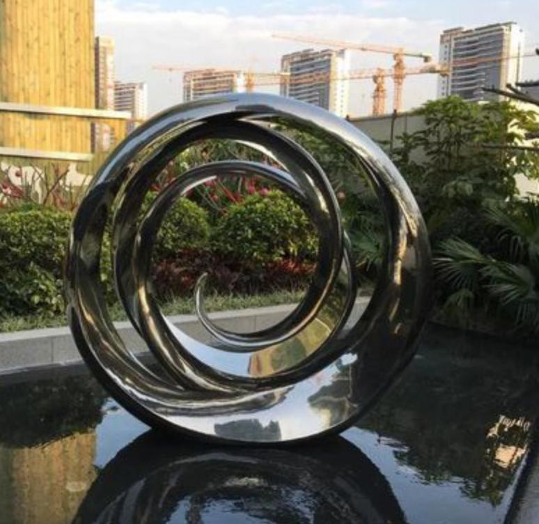 sphere steel sculpture