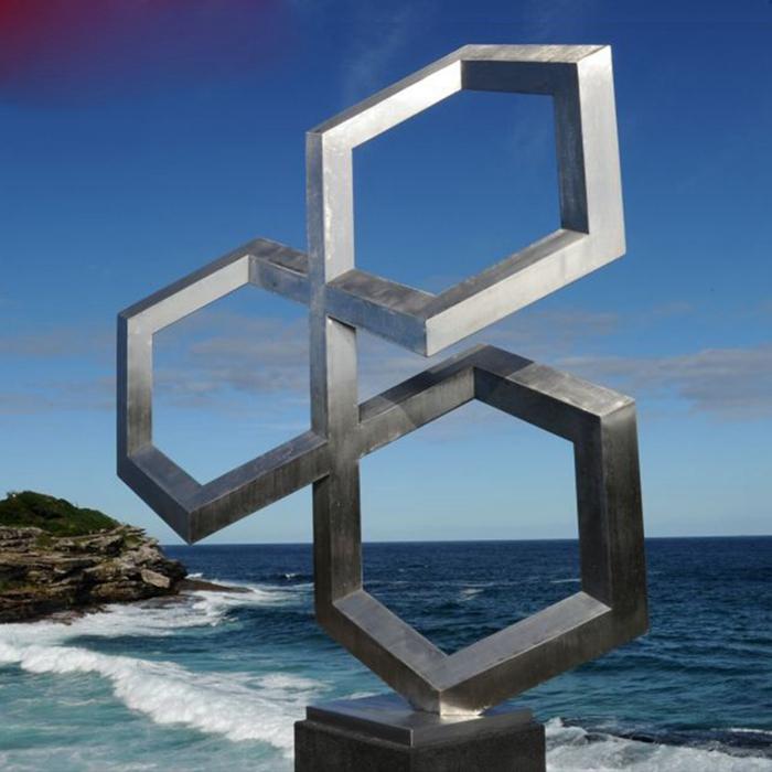 three hexagons sculpture