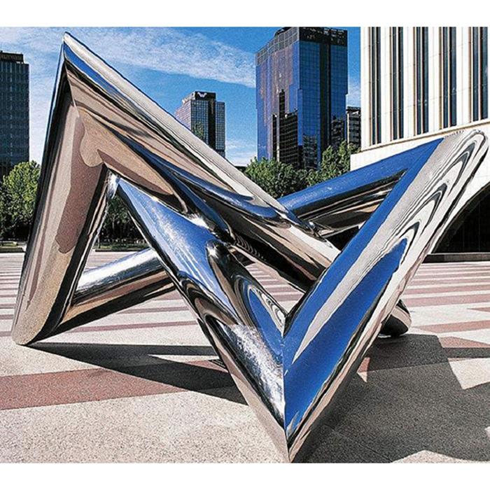 triangular sculpture