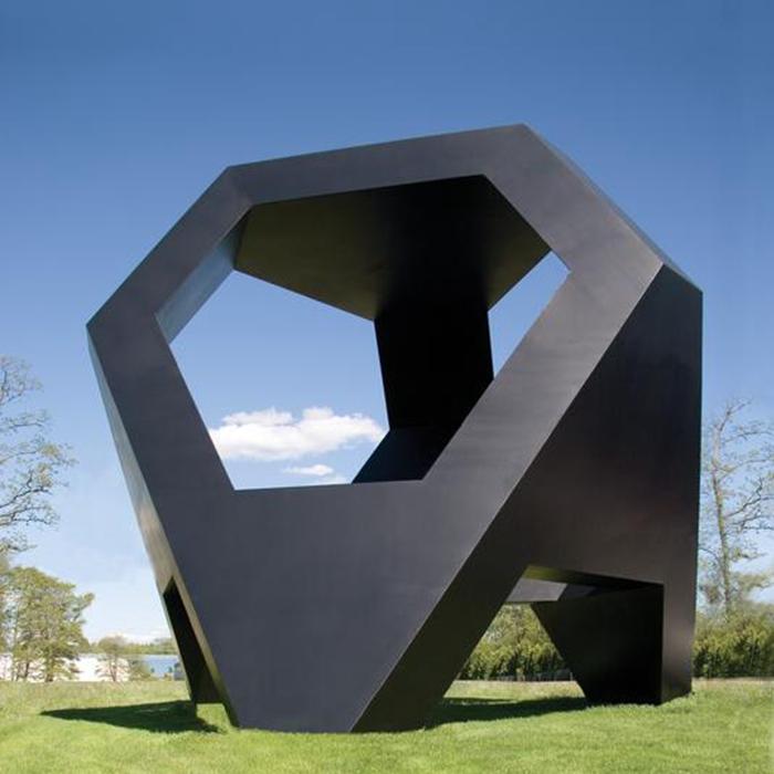 black hexagon sculpture