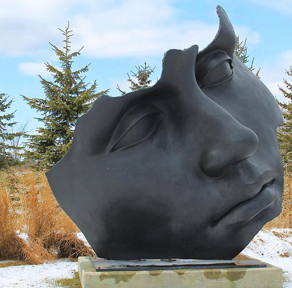 figure face abstract sculpture