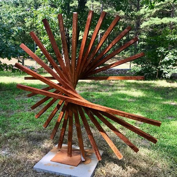 corten steel garden art