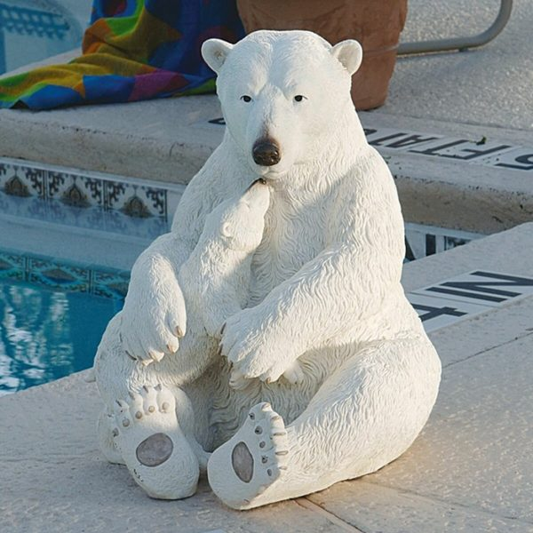 White Bear Baby Sculpture