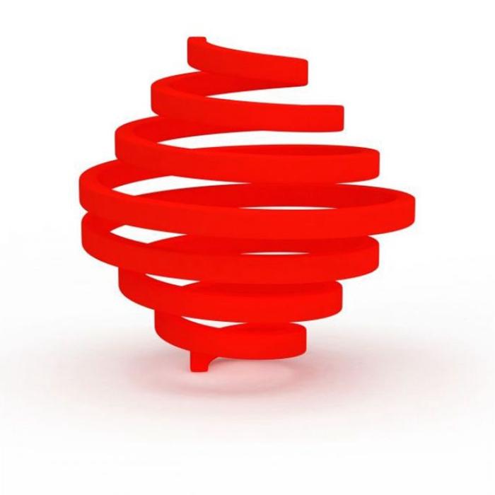 city steel red sculpture