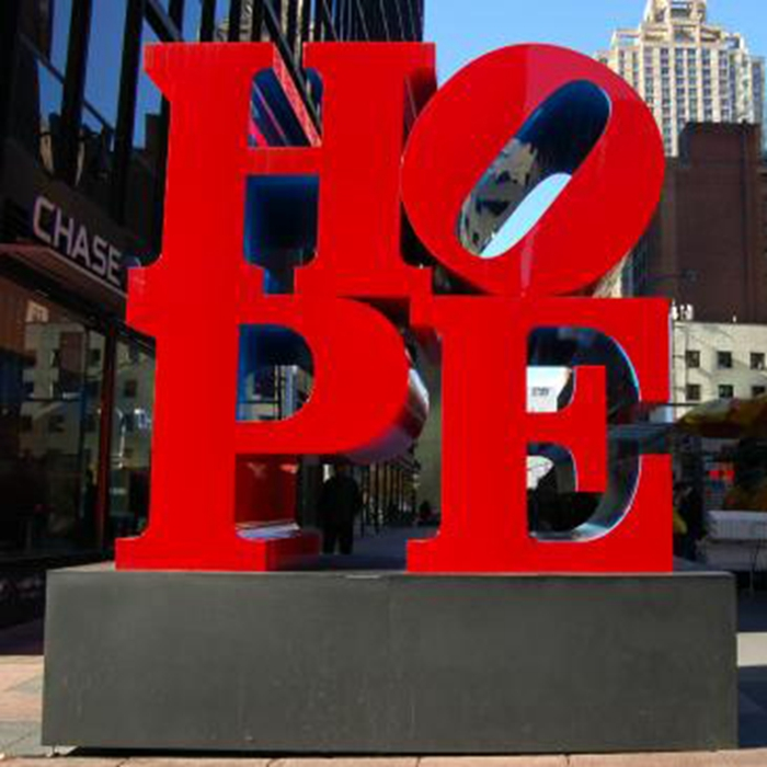 english alphabet red sculpture
