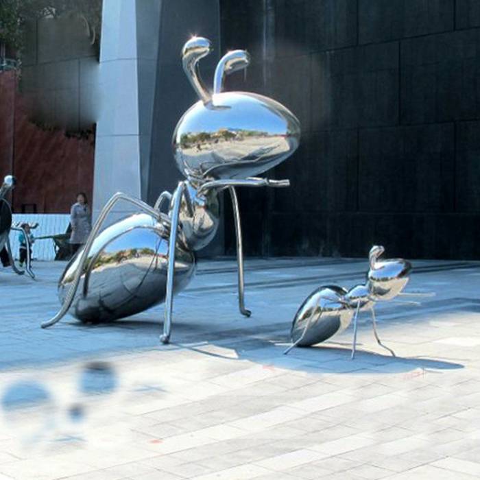 silver ant sculpture