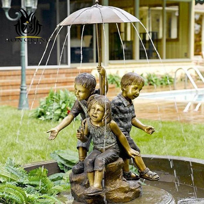 three boys statue fountain