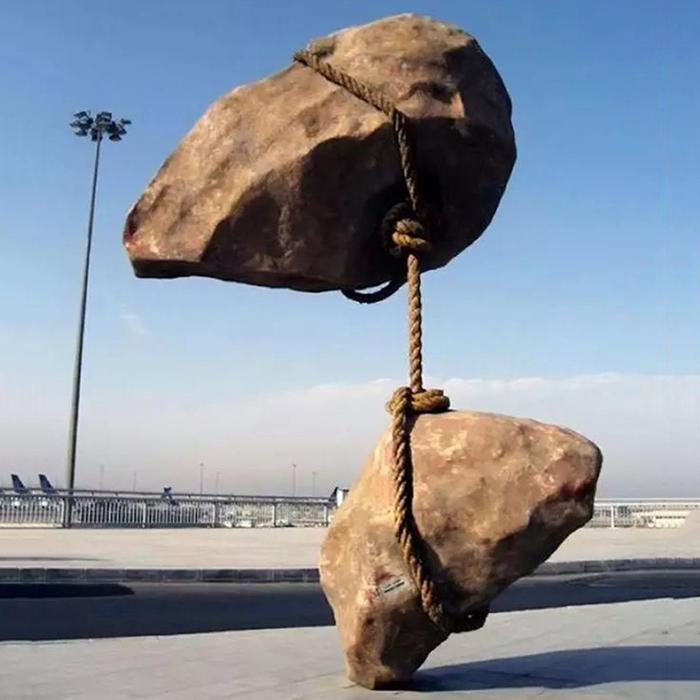 Two stones statue