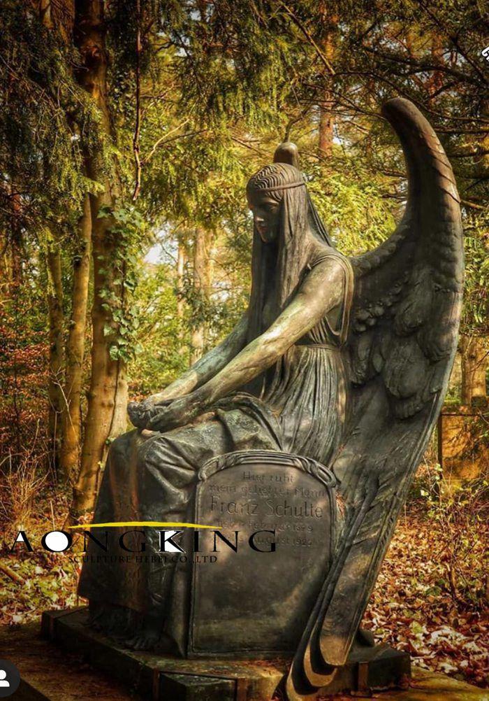 Angel copper statue