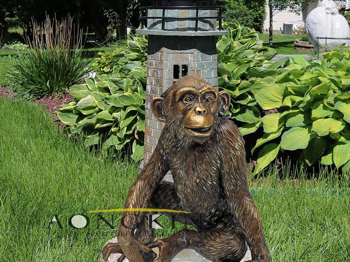 Design toscano garden statues of monkey