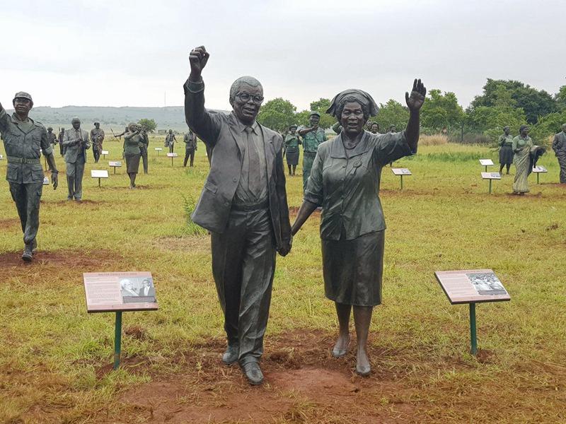 Sculpture garden statues