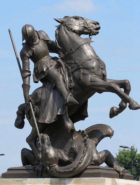 St George slays the dragon