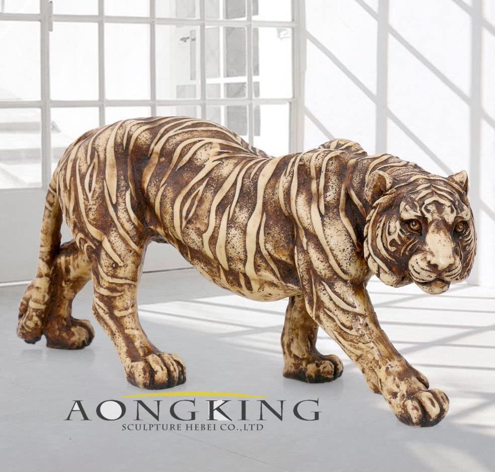 Tiger garden sculpture