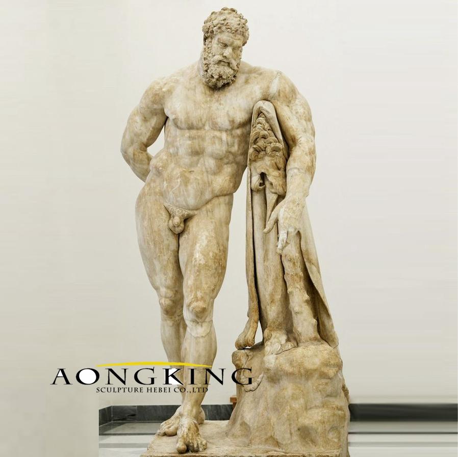 Antique surface hercules statue
