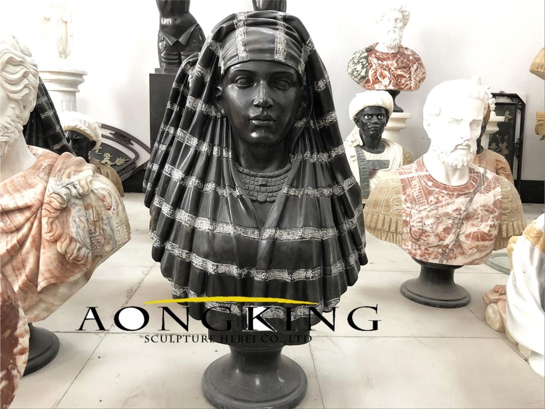 Black marble bust