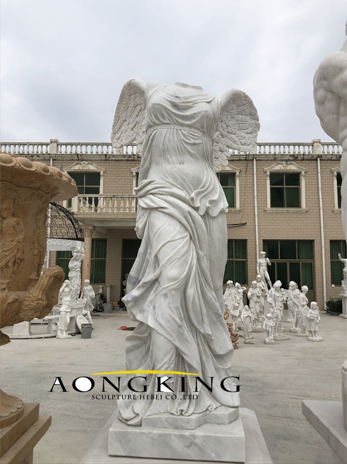 Goddess of victory marble statue