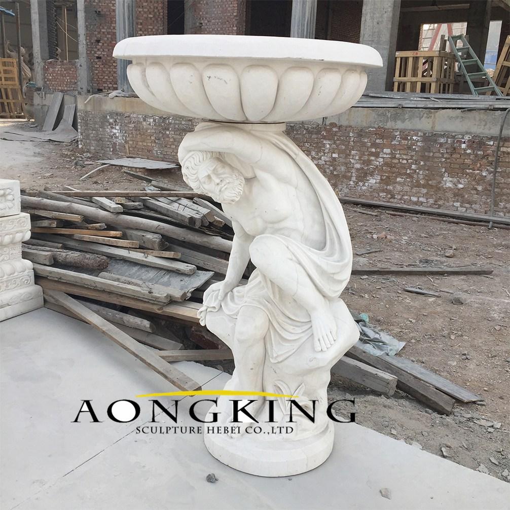 Hercules statue flower pot