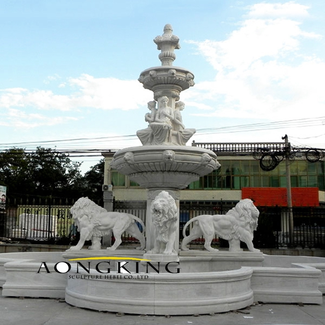 Large outdoor marble fountain