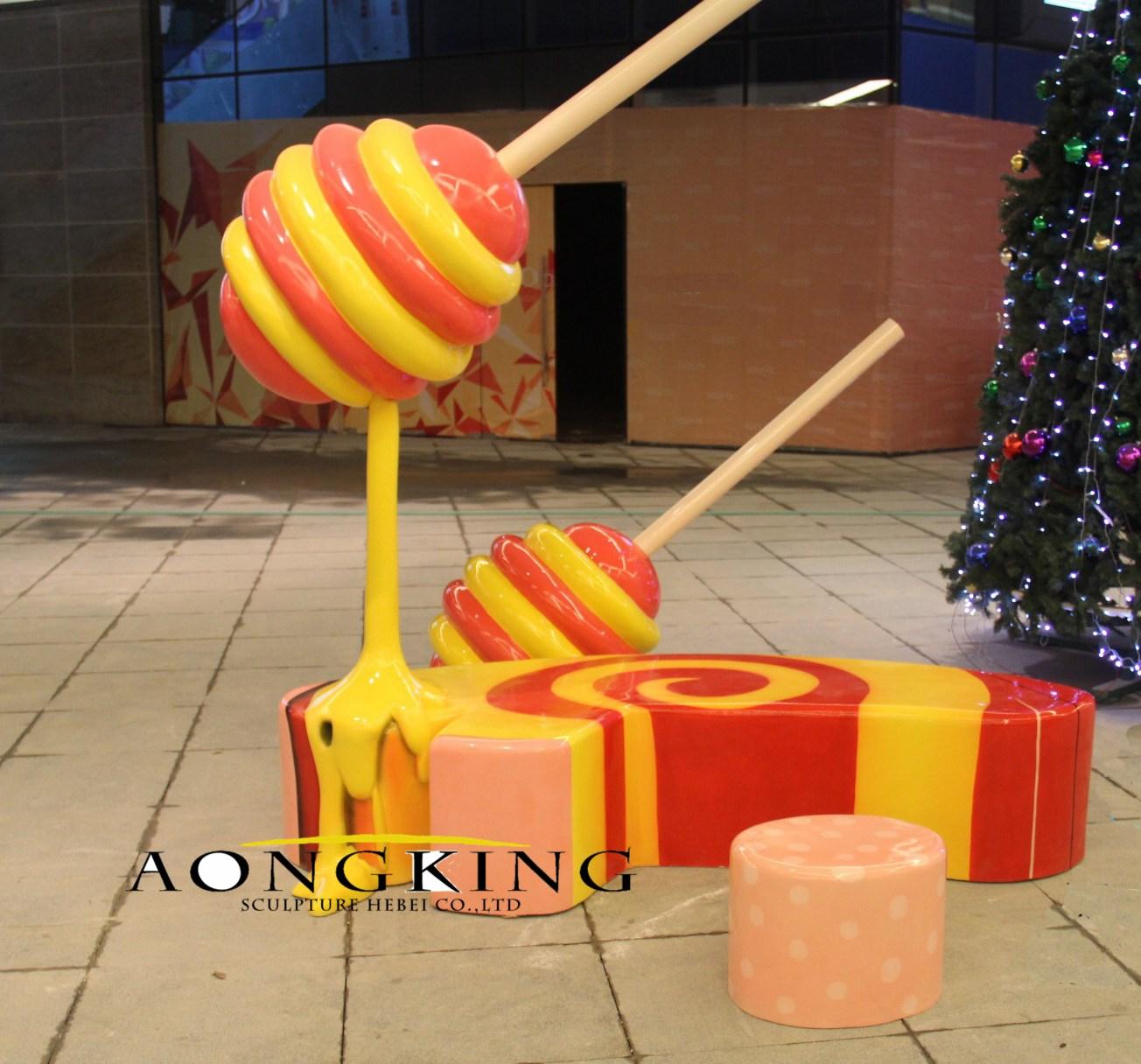 Lollipop resin statue