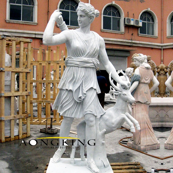 Marble statue of diana