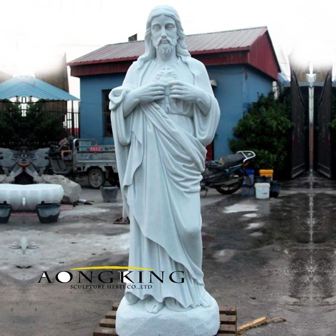 Marble statue of jesus