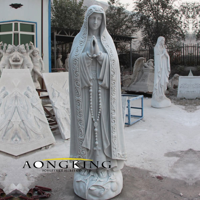 Marble statue of mary