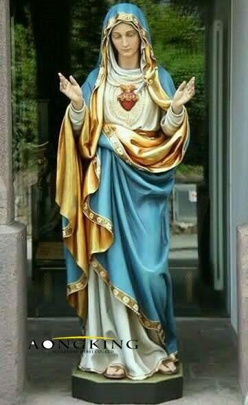 Mary statue fiberglass