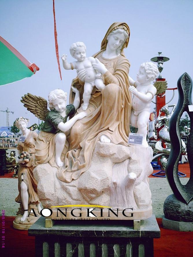 Mary statue with cherub