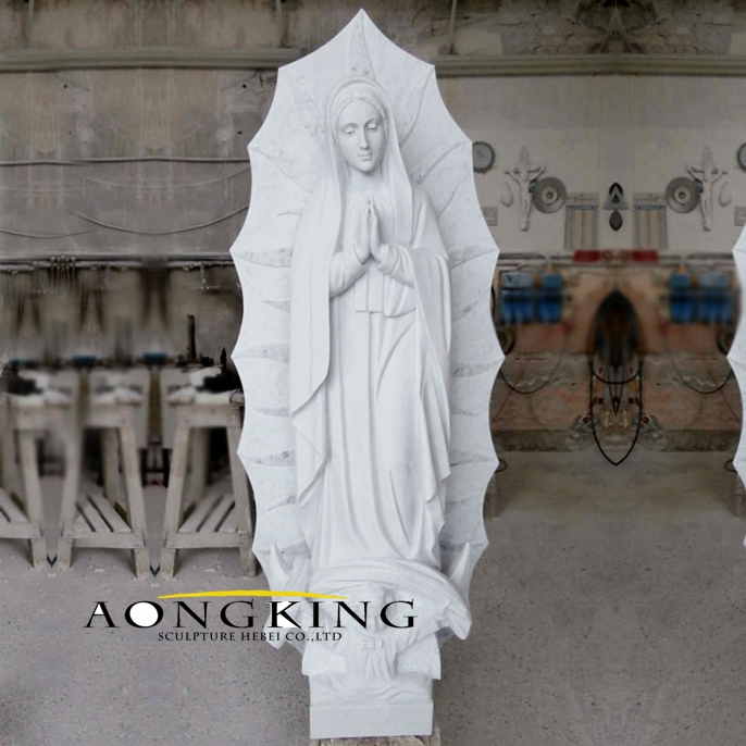 Mary White Marble Statue