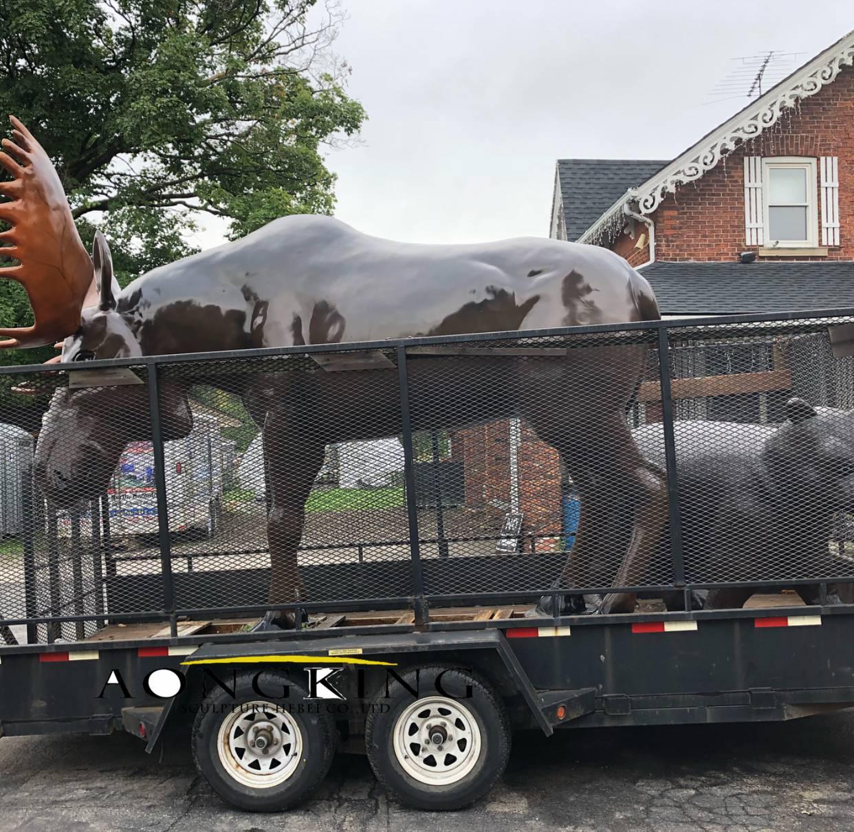 Moose statue fiberglass sculpture