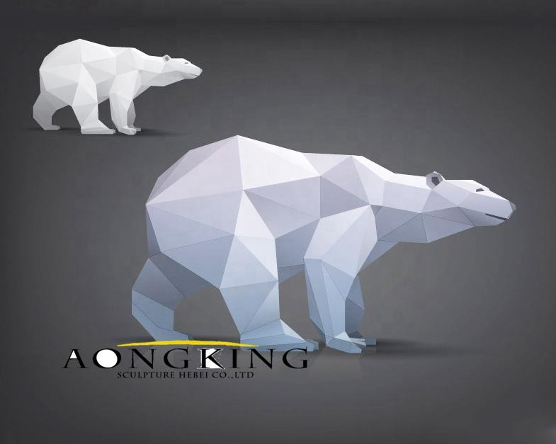Mosaic polar bear sculpture