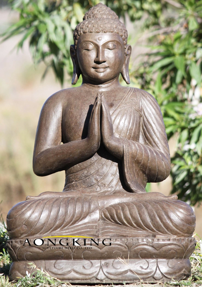 Namaste buddha stone sculpture